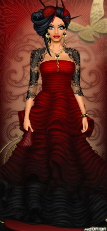 This ombre red to black dress is worn by a beloved user Zumzy (Ami). Ami sure…