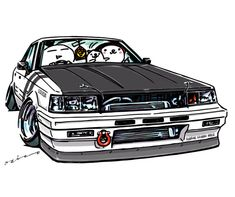 "My car ""crazy car art"" jdm japanese old school ""R31 ZENKI"" original characters ""mame mame rock"" / © ozizo Official web shop ""STAY CRAZY (in Society6)"" Official web shop ""ozizo(in Redbubble)"" ""Crazy Car Art"" Line stickers ""Crazy car Art"" Telegram..."
