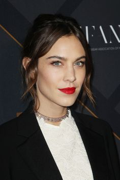 Alexa Chung attends the 29th FN Achievement Awards at IAC Headquarters on December 2, 2015 in New York City