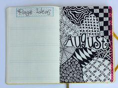 August Bullet Journal setup!