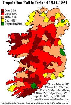 Ireland's Catastrophic Population Decline 1841-51 Due To The Potato Famine - Brilliant Maps