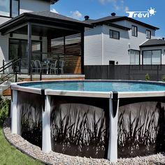 Above Ground Pool Landscaping, Above Ground Pool Decks, In Ground Pools, Backyard Gazebo, Backyard Landscaping, Pergola, Decks Around Pools, Screened In Porch, Deck Design