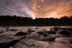 sunset - Athens. Oconee River.