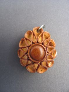 Pit Carved Pendant by PitCutter on Etsy