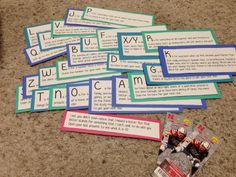 For my boyfriend's birthday I created a scavenger hunt using the ABCs. I made a clue for every letter of the alphabet minus 1. I then mixed up the letters and made him drive all across town to the places we had memories for the next clue. At the end, I gave him a clue that told him somewhere in the mix of the letters we forgot one (H) then I gave him his real present -- tickets to a Husker Football Game. :)