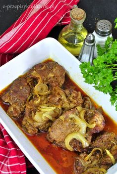 Karkówka kebabowa z piekarnika Pork Recipes, Gourmet Recipes, Cooking Recipes, Polish Recipes, Polish Food, Tasty, Yummy Food, Kielbasa, Turkish Recipes
