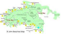 map of beaches on st john Caribbean Vacations, Caribbean Cruise, St Thomas Vi, Saint John Island, Caneel Bay, North Shore Beaches, Southern Caribbean, Johns Island, Adventure Travel
