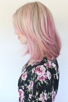 Dyed Pink Hair | Brooke White's Pink Hair | How to achieve this look on Thegirlswithglasses.com | hair  beauty