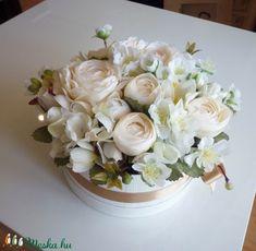 Esküvői virágdoboz (Decoflor) - Meska.hu Pesto, Cabbage, Vegetables, Cabbages, Vegetable Recipes, Brussels Sprouts, Veggies, Sprouts