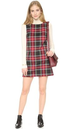 BB Dakota Harlow Tartan Plaid Shift Dress