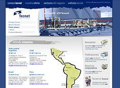 Tecnet, sitio corporativo