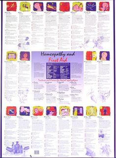 Great poster on Homeopathy and First Aid