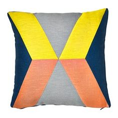 """IKEA PS 2014 cushion cover, yellow, pink Length: 20 """" Width: 20 """" Filling weight: 2 oz Length: 50 cm Width: 50 cm Filling weight: 60 g"""