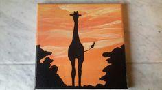 Giraf silhouet gebaseerd op foto