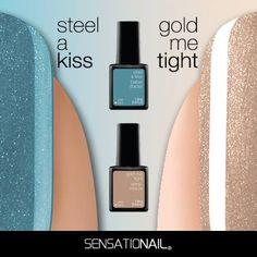 #SteelAKiss OR #GoldMeTight? | #Sensationail #LiquidMetal #GelPolish