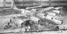 The first production Boeing B-29 Superfortress bomber rolled out of Boeing's Wichita, Kan., plant 70