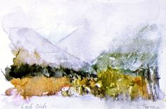 Shirley Trevena - Loch Oich (watercolour)