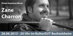 Ausnahme Gitarrist Zane Charron rockt das KulturGUT Bechtolsheim am 28.06.2013
