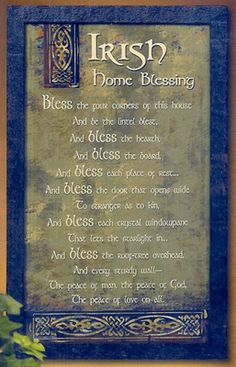 Irish Blessing - good for new home