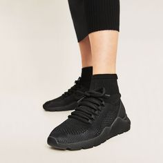 FABRIC SOCK SNEAKERS-SHOES-WOMAN-COLLECTION SS/17 | ZARA United States