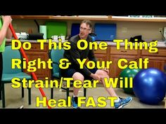 """""""Famous"""" Physical Therapists Bob Schrupp and Brad Heineck claim that if you Do This One Thing Right Your Calf Pain/Strain/Tear Will Heal Fast. (See Surprise . Pulled Calf Muscle, Torn Calf Muscle, Calf Strain Exercises, Calf Exercises, Calf Muscle Workout, Muscle Fitness, Calf Muscle Strain, Calf Tear, Calf Pain"""