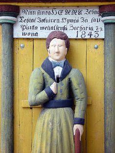 Vaivaisukko Lappajärven kirkon ovella |  Poor man statue, Lappajärvi church, Finland. --  http://en.wikipedia.org/wiki/Poor_man_statue