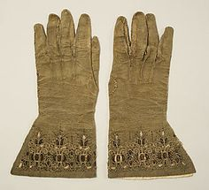Gloves  Date: 16th century  Accession Number: C.I.40.194.28a, b  Metropolitan Museum of Art