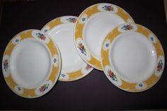 Royal Doulton Hotel Bone China White Yellow  Bread Plates Vintage #RoyalDoulton
