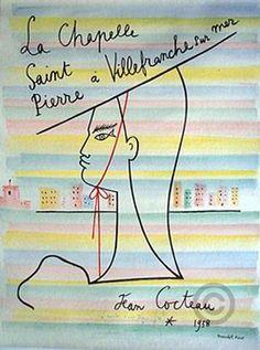 La Chapelle Saint Pierre a Villefranche sur mer - 1958 - illustration de Jean Cocteau