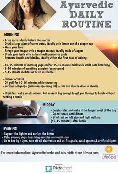 Practice this Ayurvedic Daily Routine for Optimal Health & even Spiritual Growth. {Infographic} | elephant journal