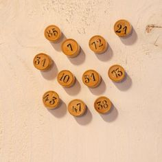 Vintage loto tokens turned into tacks by Papeteriedeparis on Etsy, €10.00