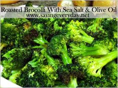 Oven Roasted Broccoli Recipe This is the BEST thing I've ever tasted!!! OMG  a must try, New fav veggie in my house!
