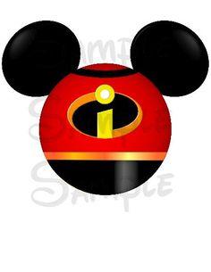 Incredibles inspired character Mickey Head digital printable file DIY