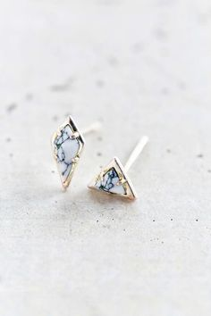 Luv Aj Marble Stud Earring Set - Urban Outfitters