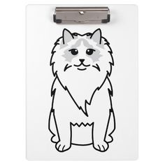 Ragdoll Cat Cartoon Clipboard
