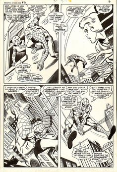 Amazing Spiderman Comic Art For Sale By Artist John Buscema at Romitaman.com