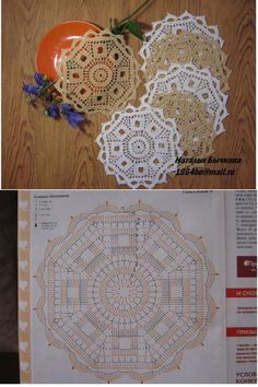 Not Your Grandma's Doily – Spectacular Suede Crochet Doily – Free PatternBest 12 tea coaster – Page 407857310001944745 – SkillOfKing.How to Knit a Bunny from a Square with Video Tutorial Crochet Mandala Pattern, Crochet Doily Patterns, Crochet Diagram, Crochet Chart, Crochet Squares, Crochet Dollies, Crochet Flowers, Crochet Round, Crochet Home