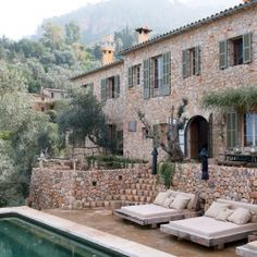 Spectacular 'Cave House' composed of indigenous materials by local artisans in Majorca, Spain.