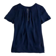 J.Crew Swoop top ($80) ❤ liked on Polyvore featuring tops, j.crew, navy, blue top, j crew top, navy tops and navy blue tops