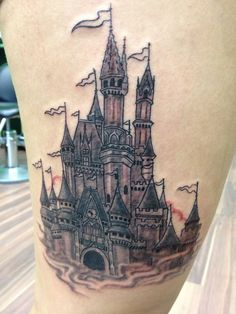 """""""This is the first sitting done, need to go back to do some more details and shading. Now I will always have part of the magic kingdom with me :) and the clock is set to 10:30 because that's when my fiancé proposed infront of the castle!"""""""