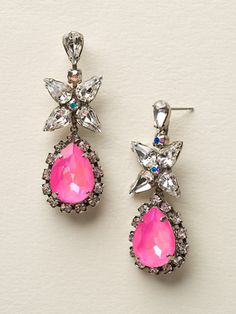 Bauble Blossoms Earring in Pink Mutiny by Sorrelli - (http://www.sorrelli.com/products/ECP21ASPMU)