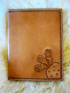 Hand-Carved Leather Portfolio with Cactus Design. $160.00, via Etsy.