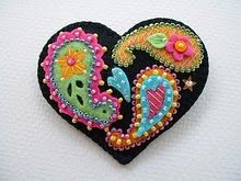 German folk art machine embroidery designs flowers