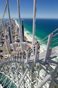 Sky Point Climb atop the Q1 building, Surfers Paradise, Queensland. Q1 is Australia's tallest residential tower at 80 stories & just over 322 metres (1058 ft) tall.