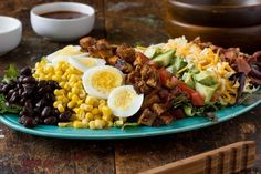 Recipe: BBQ Chicken Cobb Salad — Recipes from The Kitchn Note: skip the cheese