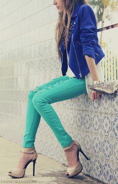Cobalt blue & Turquoise