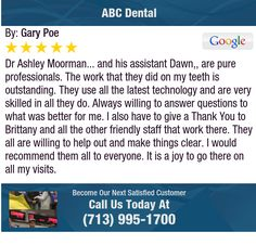 Dr Ashley Moorman... and his assistant Dawn,, are pure professionals. The work that they...