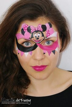 1000 images about minie mouse face painting on pinterest mini mouse minnie mouse and minnie. Black Bedroom Furniture Sets. Home Design Ideas