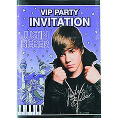 Invitations and Thank You Cards | Justin Bieber