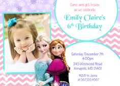 Disney Frozen Movie Birthday Party Invitation Digital File on Etsy, $8.99